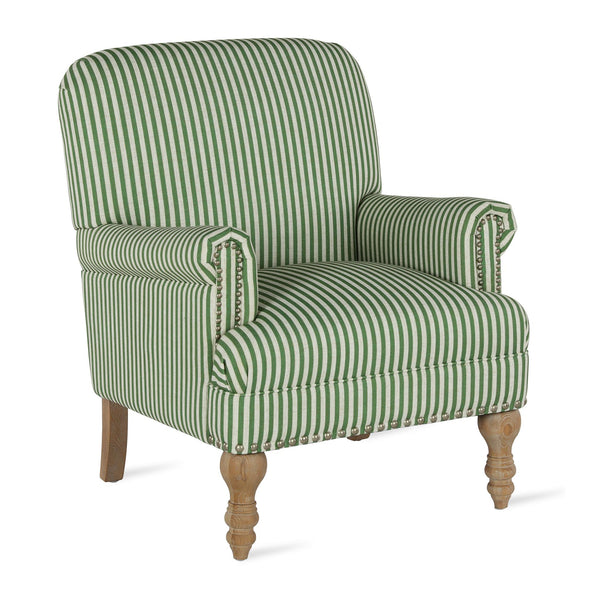 Jaya Accent Chair - Green Stripe - N/A