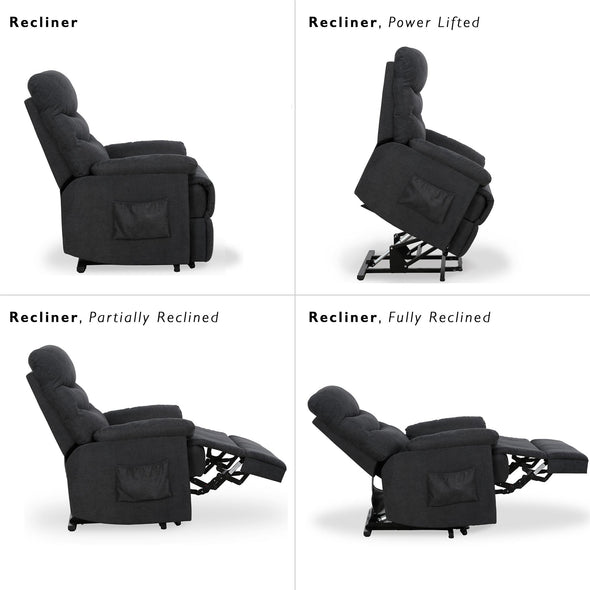 Sanders Power Lift Recliner - Charcoal - N/A