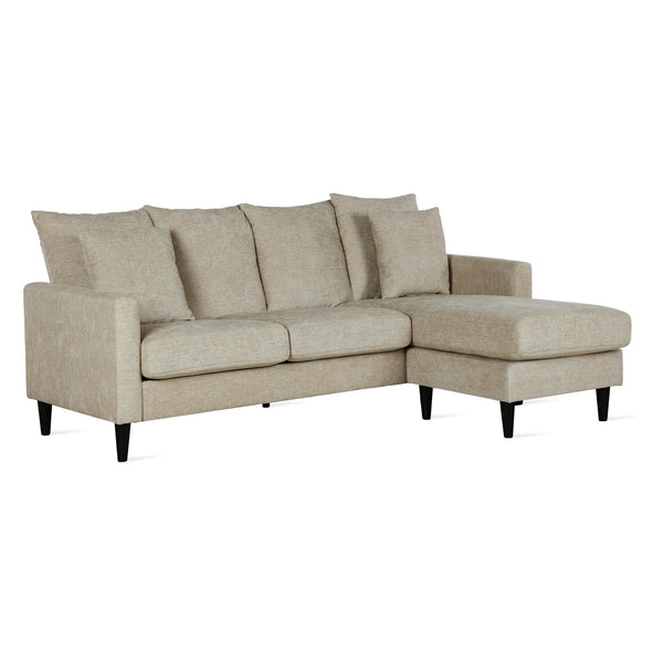Forbin Reversible Sectional Sofa Couch with Pillows - Beige - N/A
