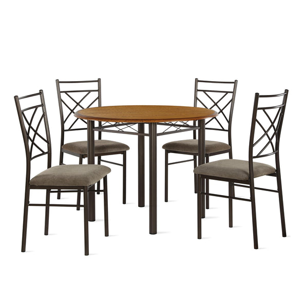 Dawson 5-Piece Dining Set - Bronze - N/A