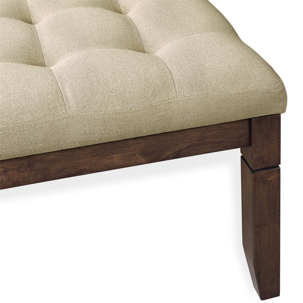 Charlie Square Ottoman - Beige - N/A