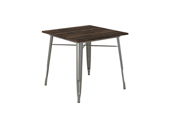 Fusion Square Dining Table - Antique Gun Metal - N/A