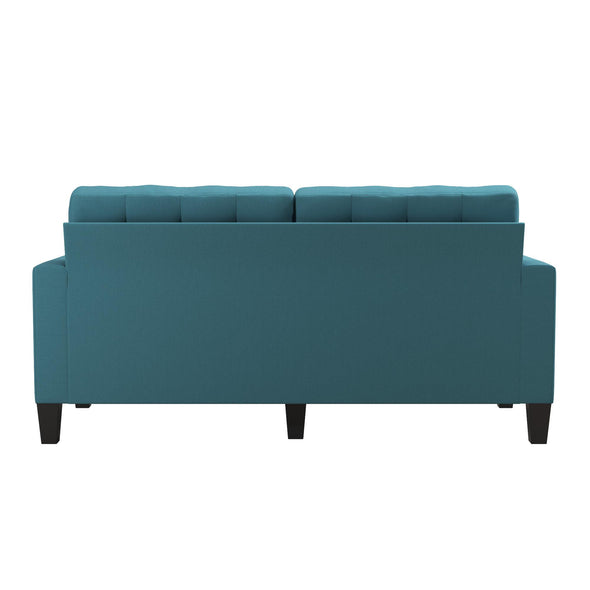 Emily Upholstered Sofa - Teal - N/A