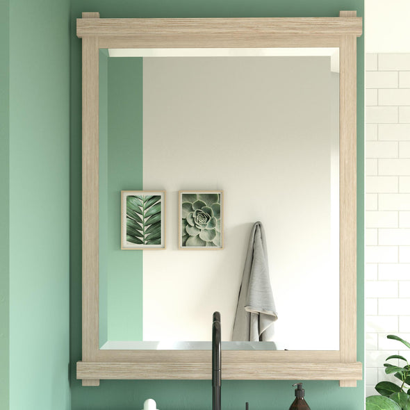 Sunnybrooke 30 Inch Bathroom Mirror - Rustic White - 30""