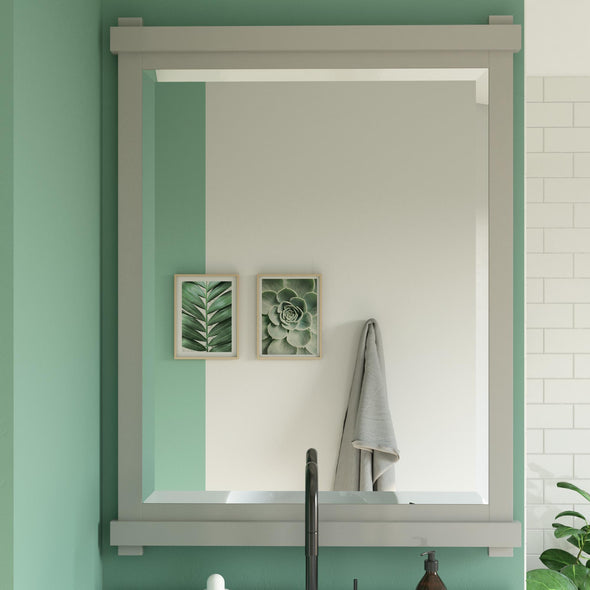 Sunnybrooke 30 Inch Bathroom Mirror - Gray - 30""