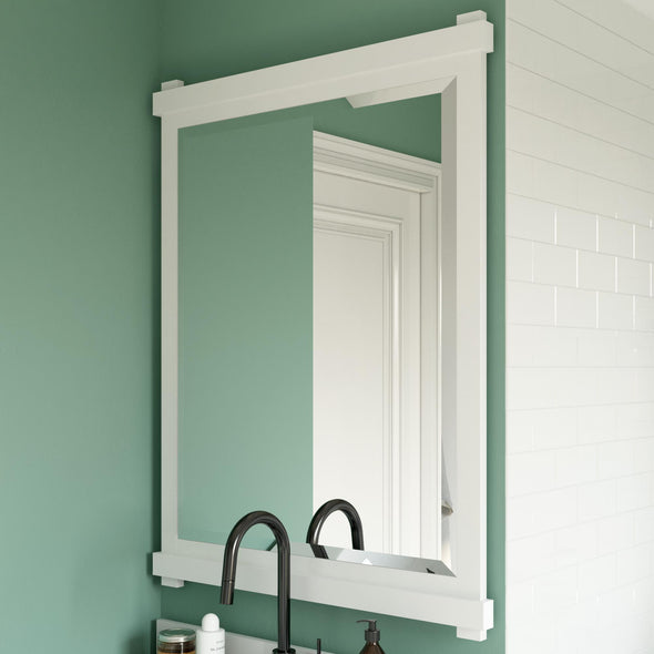 Sunnybrooke 30 Inch Bathroom Mirror - White - 30""