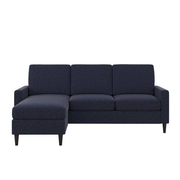 Kaci Reversible Contemporary Sectional - Blue - N/A