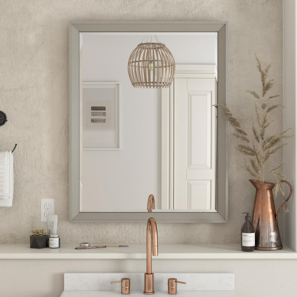 Tribecca 30 Inch Bathroom Mirror - Gray - 30""
