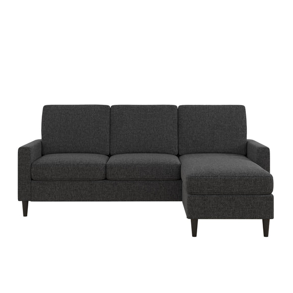 Kaci Reversible Contemporary Sectional - Charcoal - N/A