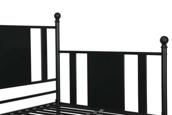 Langham Metal Daybed with Trundle - Black - Twin