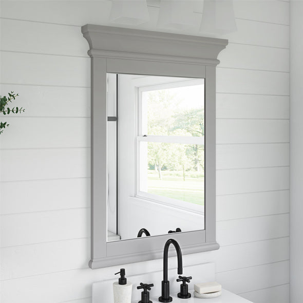 Monteray Beach 24 Inch Bathroom Mirror - Gray - N/A