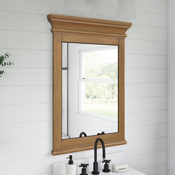 Monteray Beach 24 Inch Bathroom Mirror - Natural Rustic - N/A