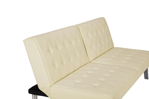 Emily Futon  - Vanilla Faux Leather - N/A