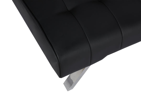 Emily Futon  - Black Faux Leather - N/A