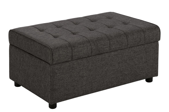 Emily Rectangular  Storage Ottoman - Grey Linen - N/A