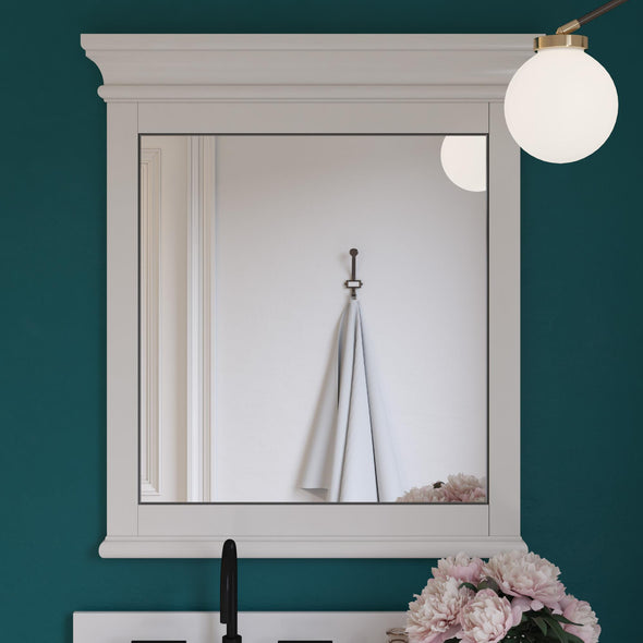 Monteray Beach 30 Inch Bathroom Mirror - White - 30""