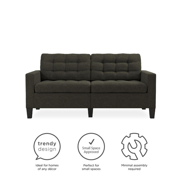 Emily Upholstered Sofa - Gray - N/A