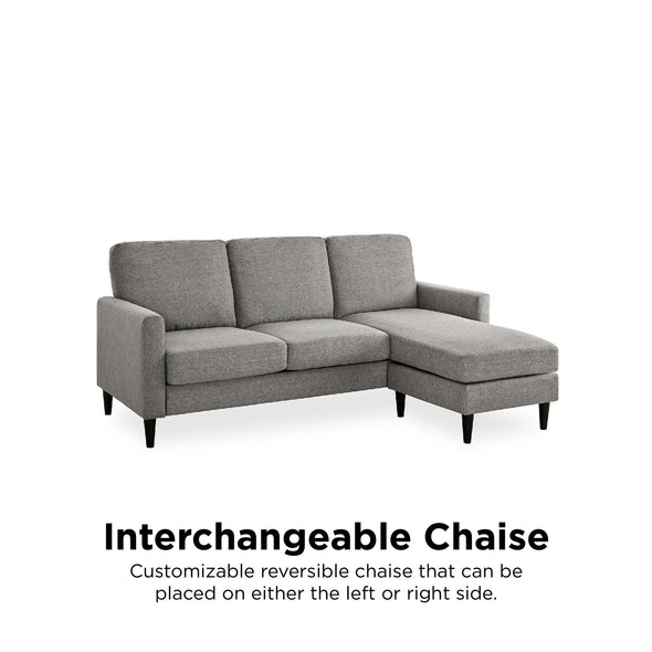 Kaci Reversible Contemporary Sectional - Gray - N/A