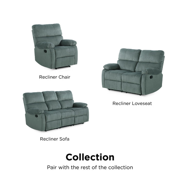 Sterling Reclining Upholstered Loveseat - Slate Green - N/A