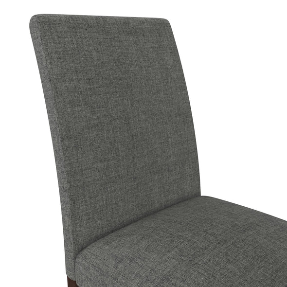 Linen Upholstered Parsons Chairs - Gray - N/A