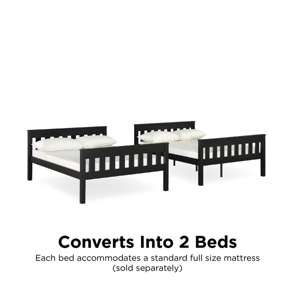 Moon Bunk Bed with USB Port - Black - N/A