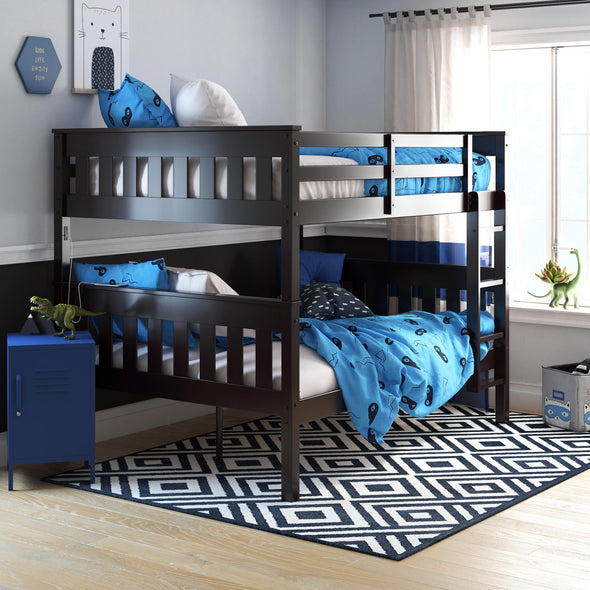Moon Bunk Bed with USB Port - Espresso - N/A