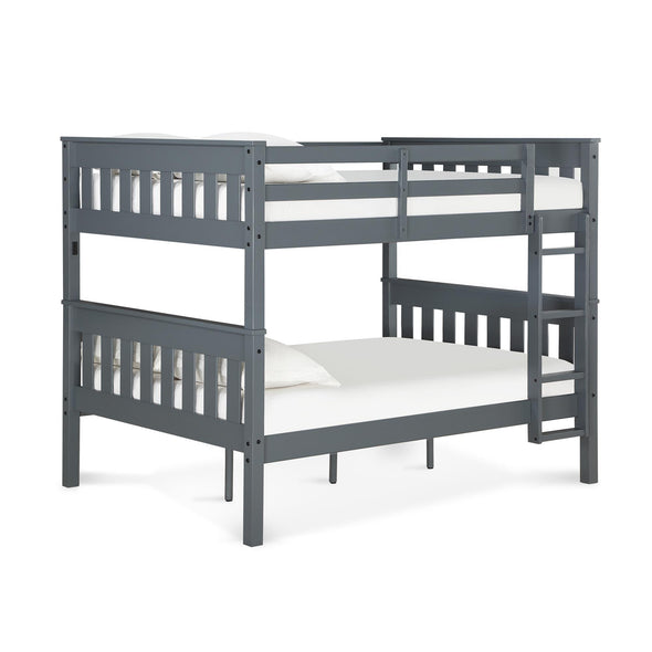 Moon Bunk Bed with USB Port - Gray - N/A