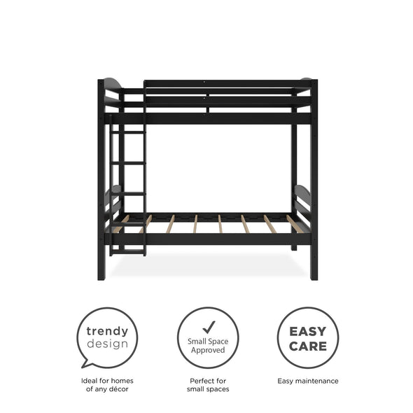 Clearwater Triple Bunk Bed - Black - N/A