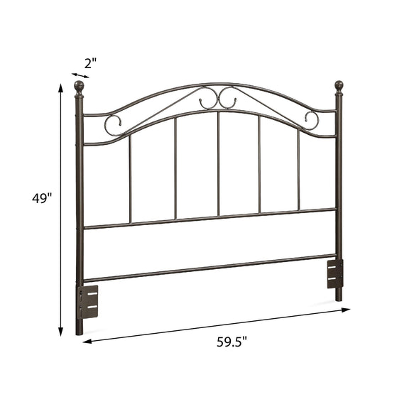 Winnie Adaptable Full/Queen Metal Headboard - Bronze - N/A