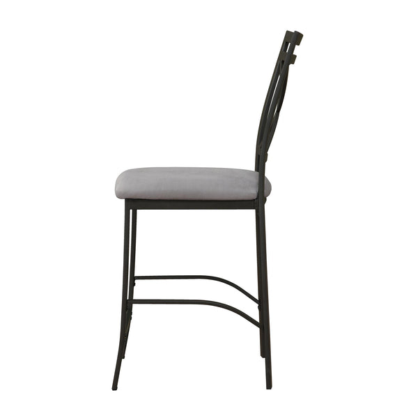 Devon Crossback Counter Height Dining Chair - Black Coffee - N/A