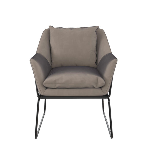 Avery Accent Chair - Grey Velvet - N/A
