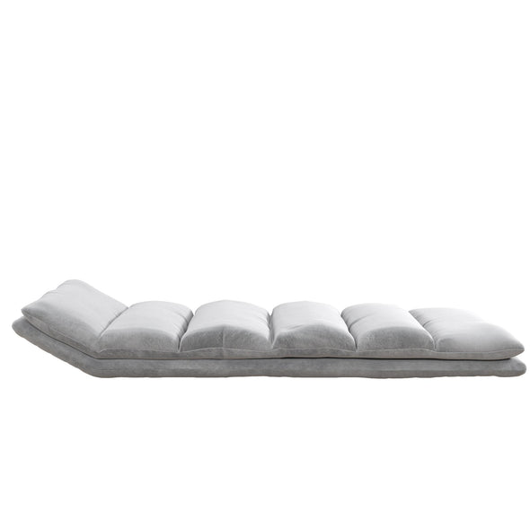 Beverly Wave Adjustable Memory Foam Lounger - Gray - N/A