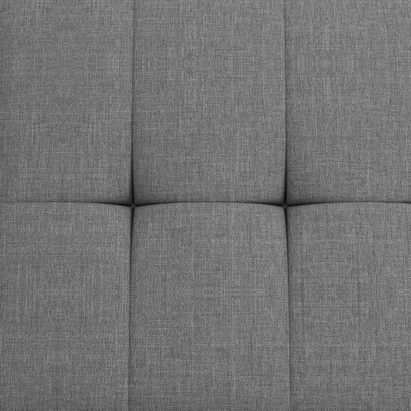 Haven Small Space Sectional Sofa Futon - Light Gray - N/A