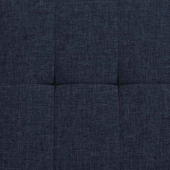 Haven Small Space Sectional Sofa Futon - Blue Linen - N/A