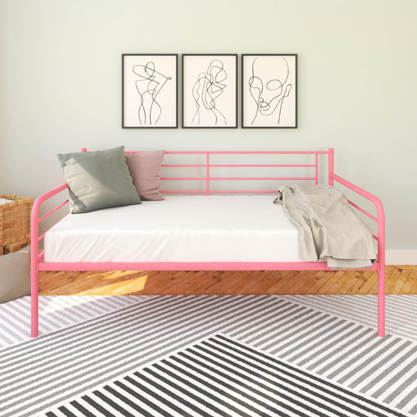 Metal Daybed  - Pink - Twin