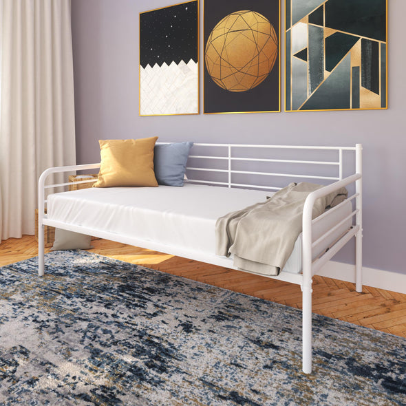 Metal Daybed  - White - Twin