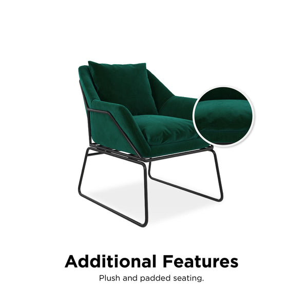Avery Accent Chair - Green - N/A