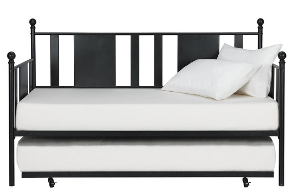 Langham Metal Daybed and Trundle Set - Black - Full