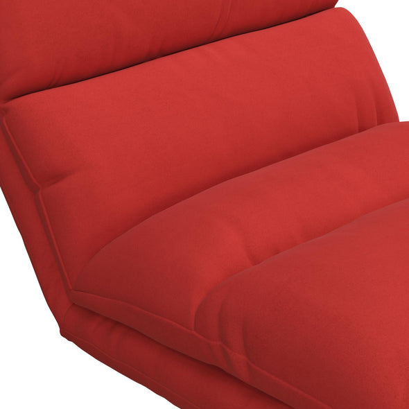 Beverly Wave Adjustable Memory Foam Lounger - Red - N/A