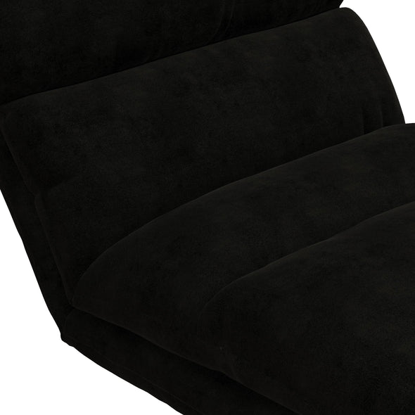 Beverly Wave Adjustable Memory Foam Lounger - Black - N/A