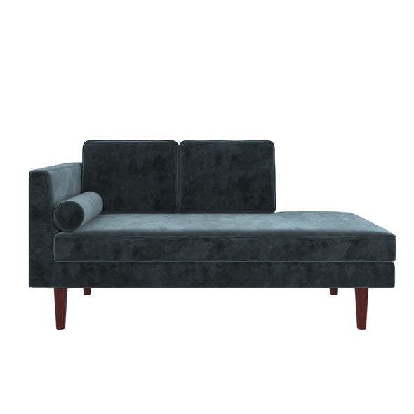 Nola Mid Century Modern Upholstered Daybed/Chaise - Blue - N/A