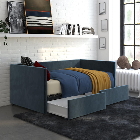 Daybed with Storage - Blue - Twin
