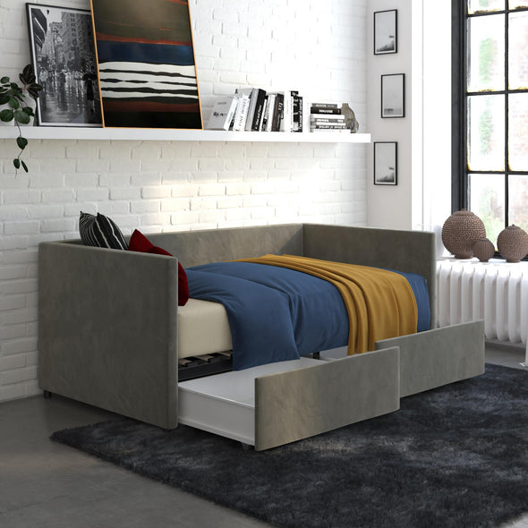 Daybed with Storage - Gray - Twin