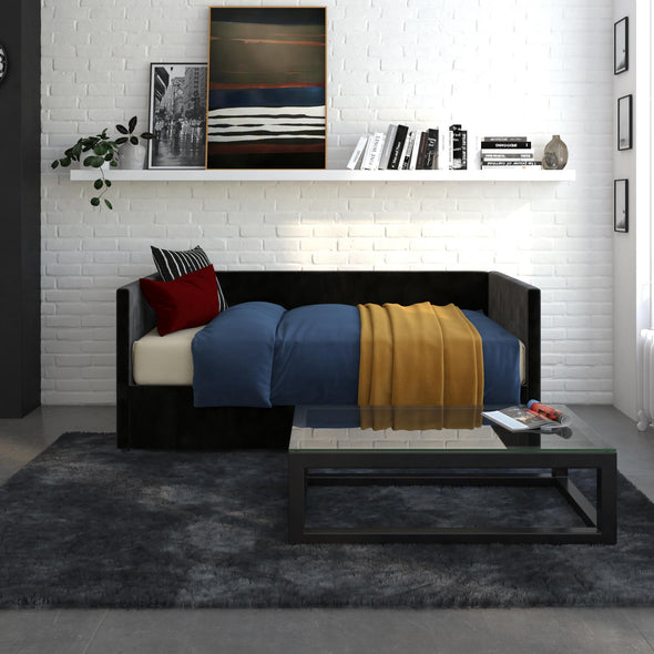 Daybed with Storage - Black - Twin