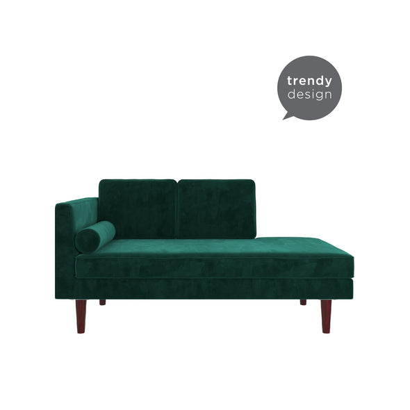 Nola Mid Century Modern Upholstered Daybed/Chaise - Green - N/A