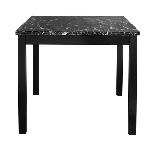 Andover Faux Marble Counter Height Black Dining Set - Black - N/A