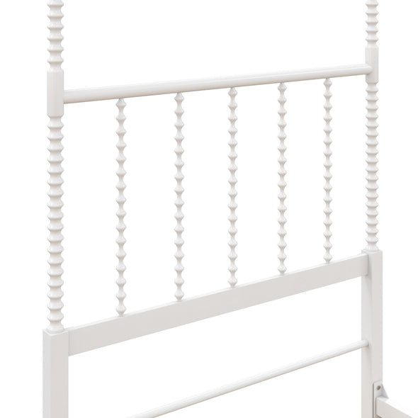 Jenny Lind Metal Canopy Bed - White - Twin