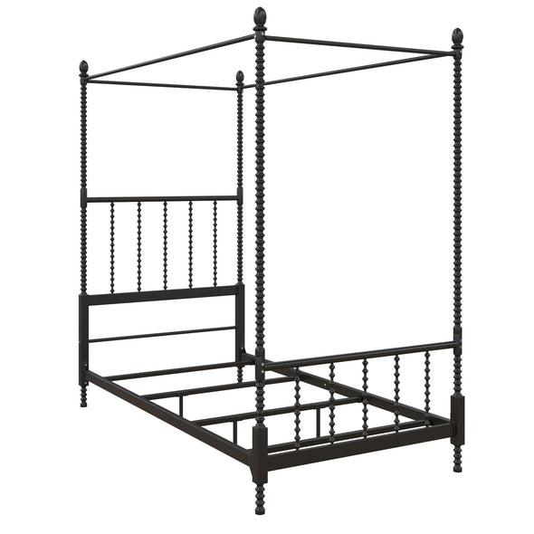 Jenny Lind Metal Canopy Bed - Black - Twin