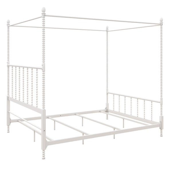 Jenny Lind Metal Canopy Bed - White - Full
