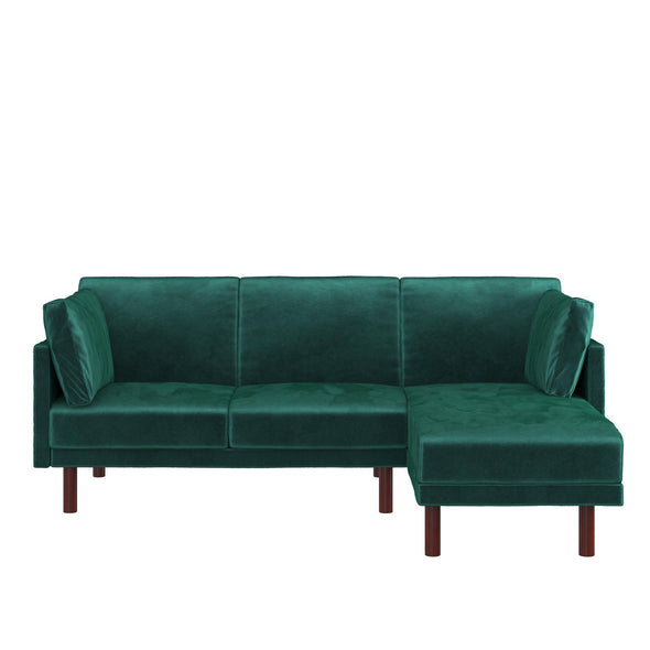 Clair Coil Sectional Futon - Green - N/A